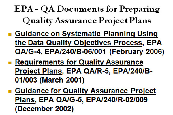 Quality Control & Assurance Plan Template