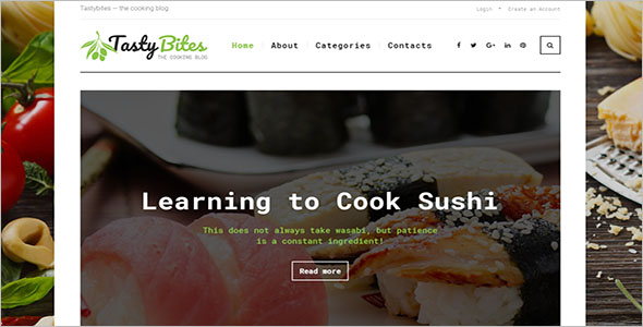 Recipe Blog WordPress Theme