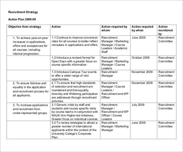Recruitment Agreement Strategy Template
