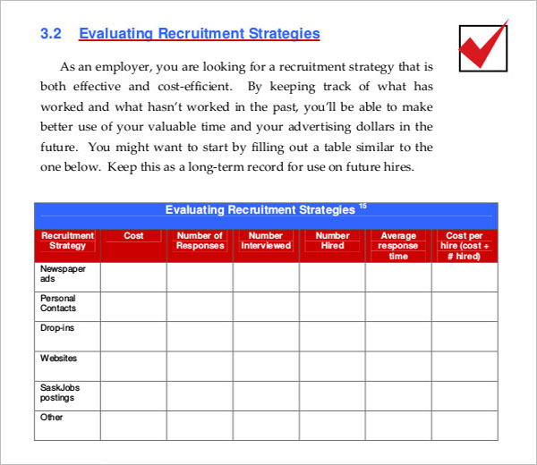 Recruitment Attraction Strategy Template