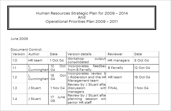 Recruitment Strategy Document Template