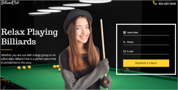 Relaxing Gaming Landing Page Template