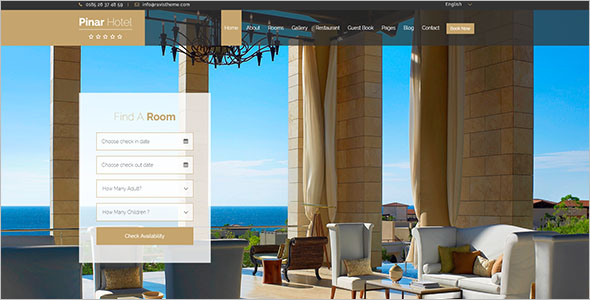 Resort Booking Website Template