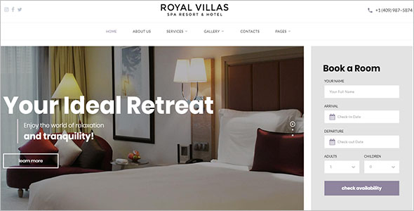 Resort Hotel Site Template