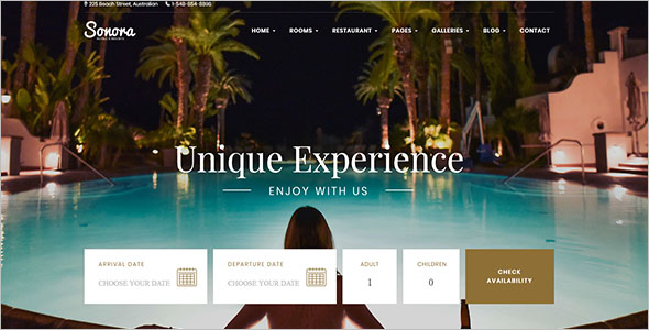Resort Reservation Website Template