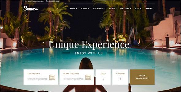 Resort Reservation Website Template