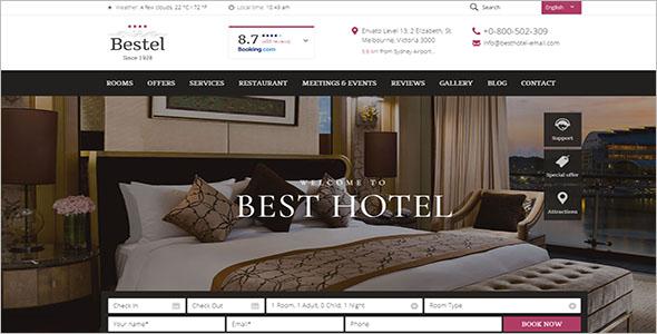 Resort Rooms Booking Website Template