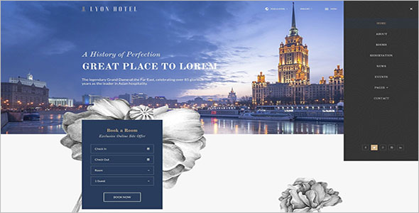 Resort Website PSD Template