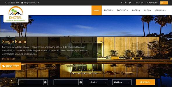 Resort Website Theme