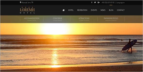 Resorts Website Design Template
