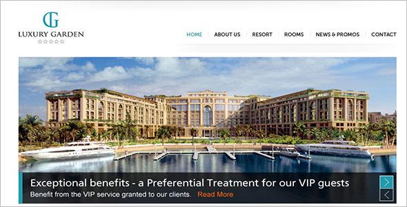 Resorts Website PSD Design