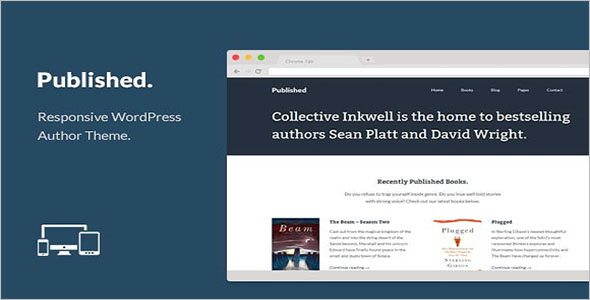 Responsive Author Blog Template