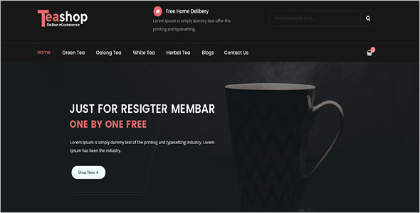 Responsive Coffee Shop Magento Template