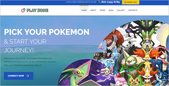 Responsive Gaming PHP Theme