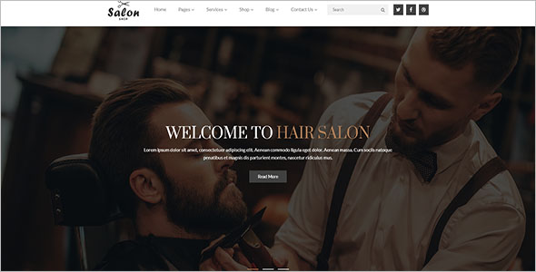 Responsive Hair Salon HTML5 Template