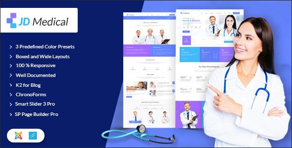 Responsive Health Joomla Template