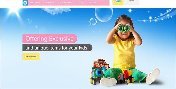 Responsive Kids Magento Theme