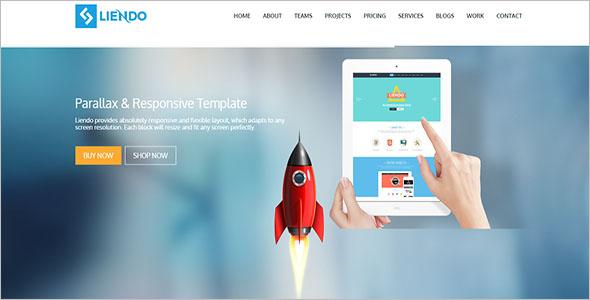 Responsive Marketing Landing Page Template