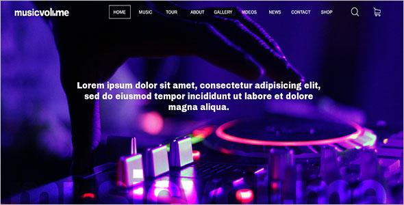 Responsive Music Bootstrap Template