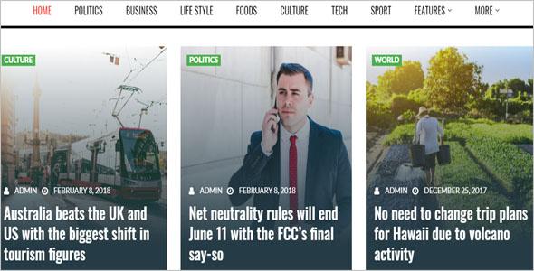 Responsive News Blog Theme