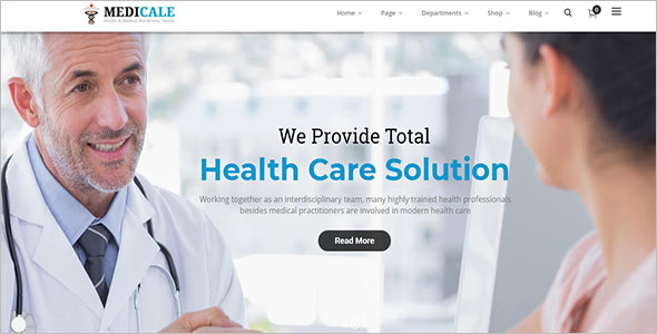 Responsive Physiotherapy & Chiropractor WordPress Template
