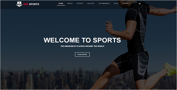 Responsive Sports Landing Page Template