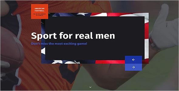 Responsive Sports Landing Page Theme