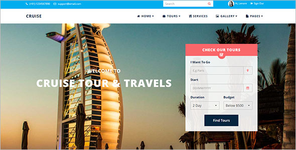 Responsive Tour & Travel Website Template