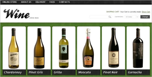 Responsive Wine VirtueMart Template