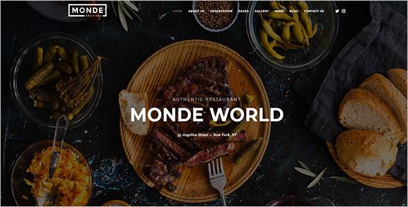 Restaurant Blog Website Template