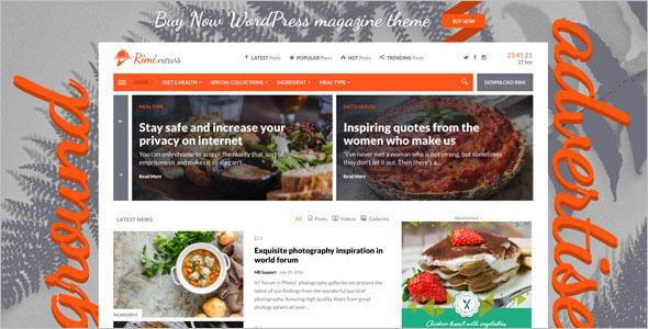 Retina Ready Food Blog WordPress Template