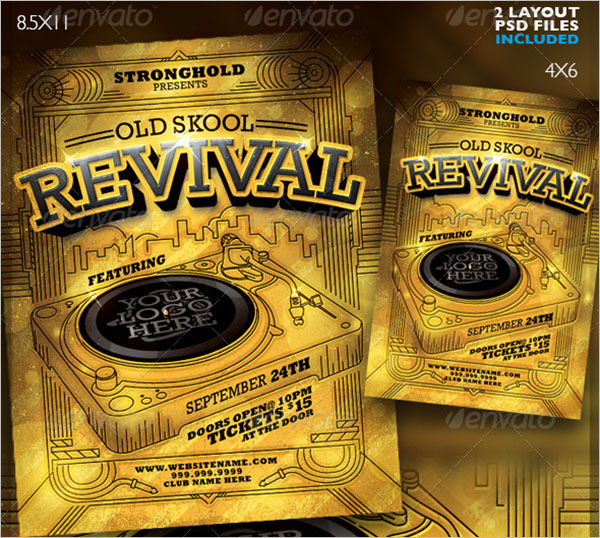 Revival DJ Event Flyer Template
