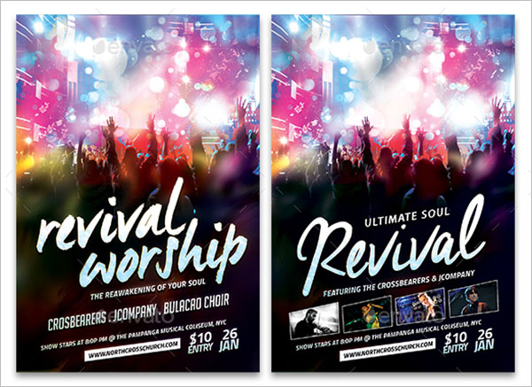 Revival Flyer PSD Template