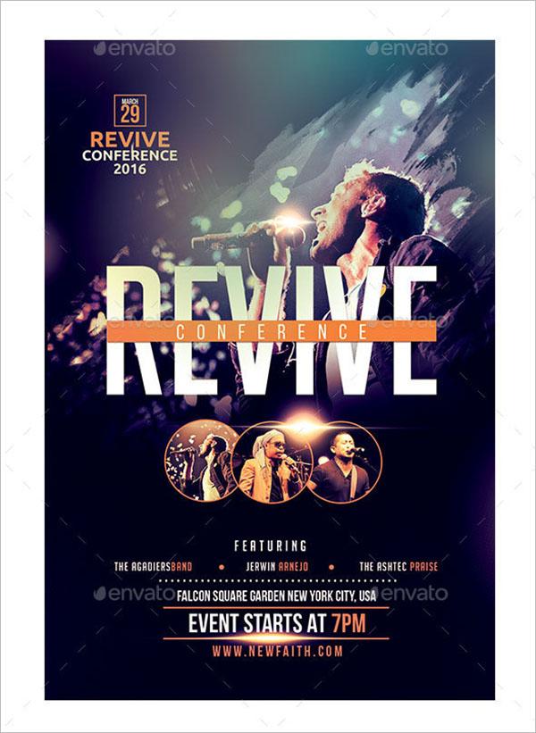 revival flyer templates free sample design ideas creative template