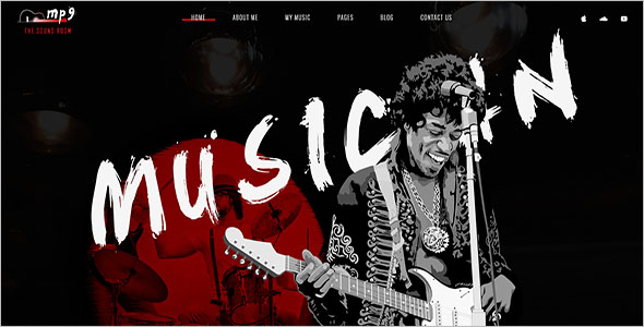 Rocking Bootstrap Music Template