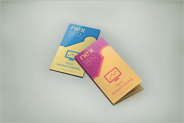 SEO Half Fold Brochure Template