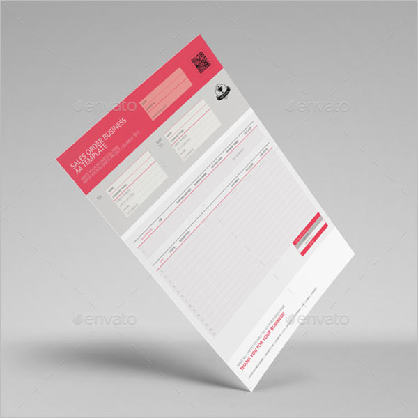 Sales Order Template Indesign