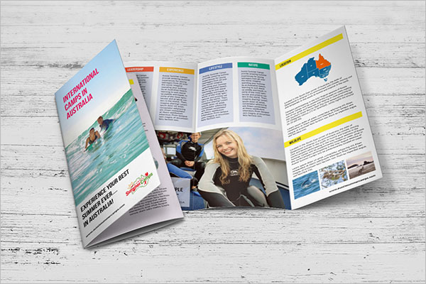 Sample Camp Brochure Template