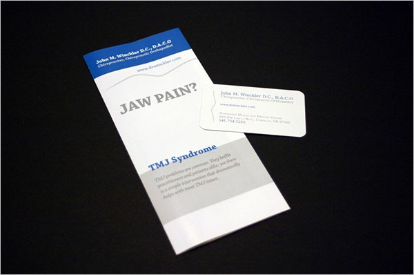 Sample Chiropractic Brochure Design