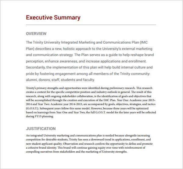 Sample Communication Plan Template