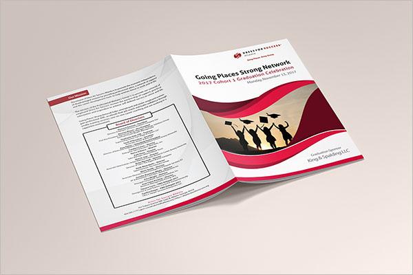 Sample Graduation Brochure Template