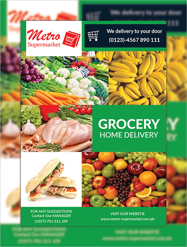Sample Grocery Delivery Flyer Template