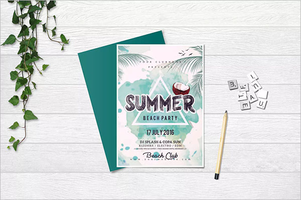 Sample Summer Party Flyer Template