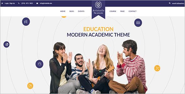School Academic Website Template