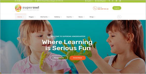 School Events Website Template