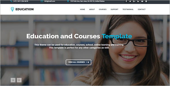 School Learning Management Website Template