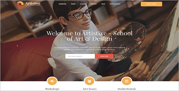School Of Arts Website Design
