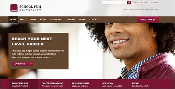 School PHP Website Template