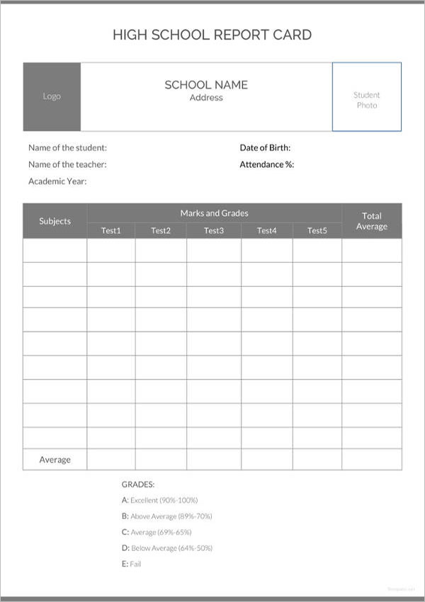 School Report Format