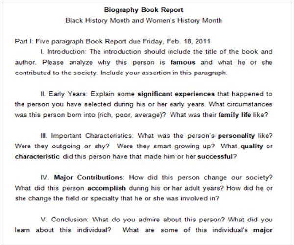School Report Template Word